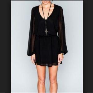 Show Me Your MuMu Black Long Sleeve Dress